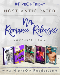 #FiveOnFriday: Most Anticipated New Romance Releases (November)