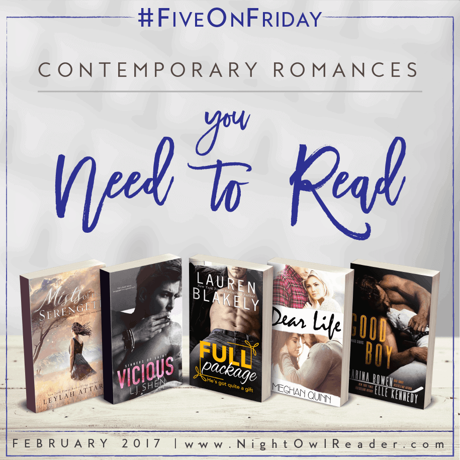 #FiveOnFriday: 5 Recent Contemporary Romances You Need To Read!