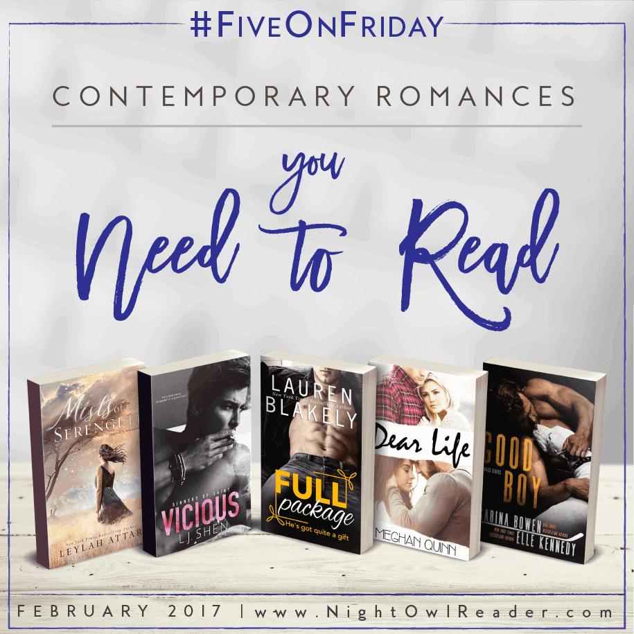 #FiveOnFriday: 5 Contemporary Romances You Need To Read