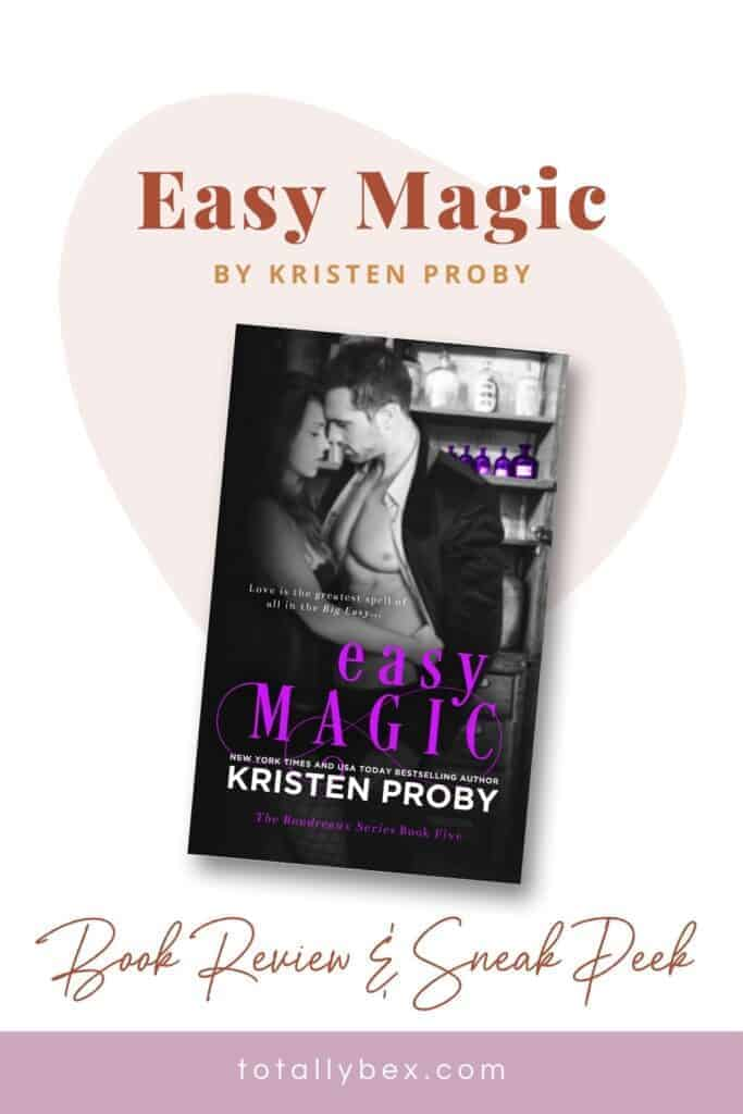 While Easy Magic is a charming and sweet romance first and foremost, there is an underlying supernatural story that gives it a unique spin on the ordinary contemporary romance.