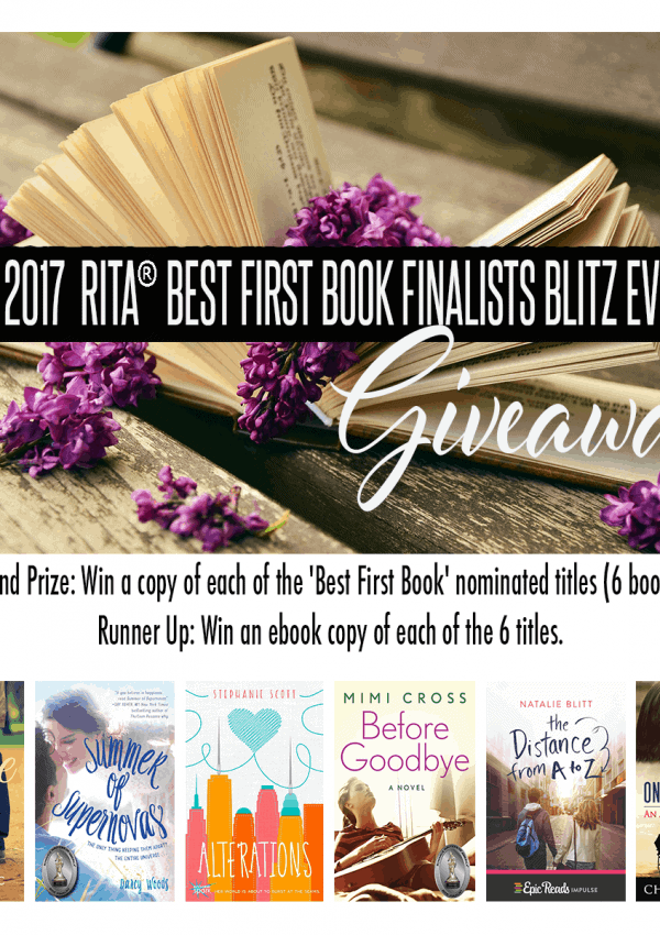 "Enter to win all of the R I T A 2017 ""Best First Book"" nominated titles (2 winners!)"