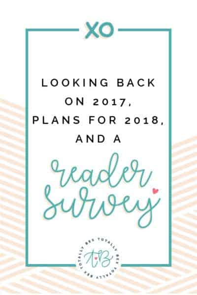 Where I've Been + Plans for 2018 + A Reader Survey!