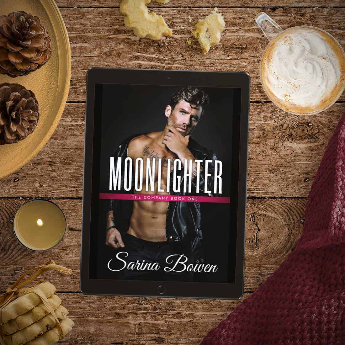 Moonlighter by Sarina Bowen, the first book in The Company series, is a fun sports romance with tons of great banter, suspenseful espionage, fake dating, and only one bed!