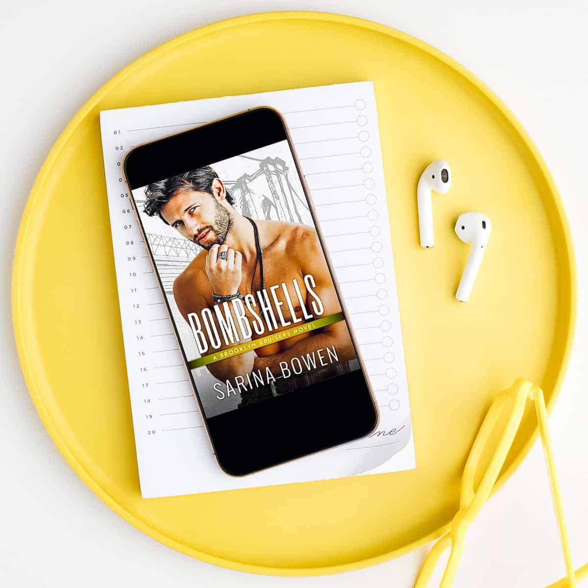 Bombshells by Sarina Bowen is the 8th Brooklyn Bruisers book and delivers more of our favorite endearing characters and a sweet friends-to-lovers romance!