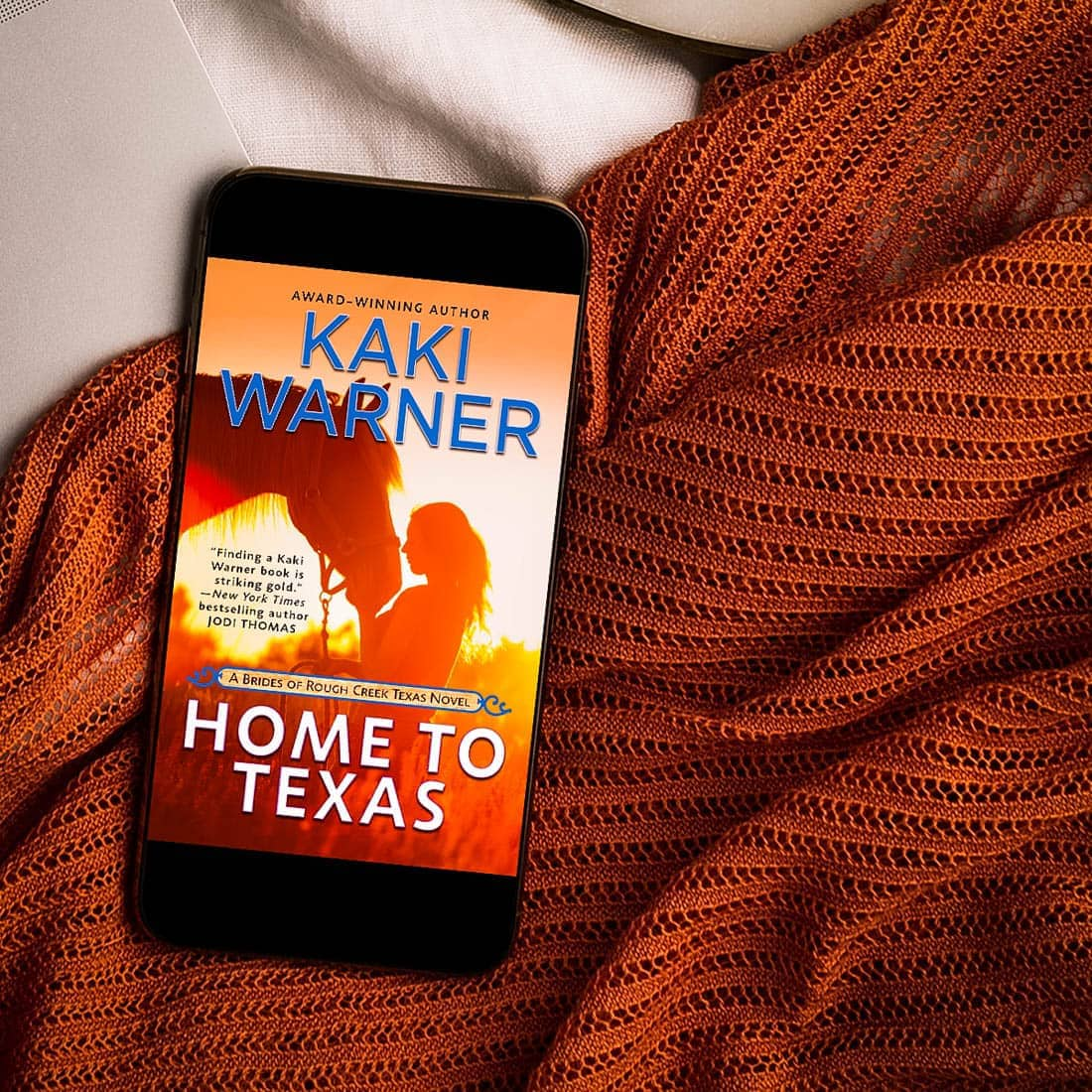 Enjoy this excerpt from Home to Texas by Kaki Warner, a suspenseful western romance about two ex-soldiers who get a fresh start and a second chance at love!