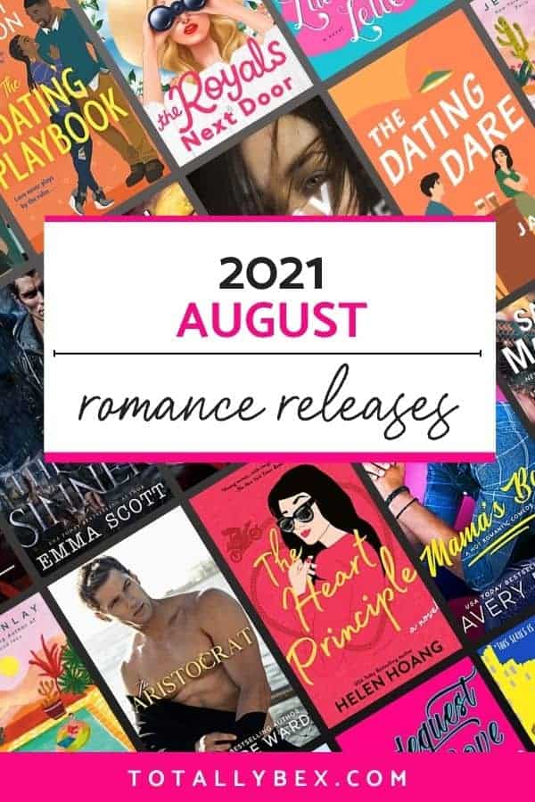 14 New Romance Books for August 2021 is a curated list of contemporary romance books, historical romance, and fantasy romance to add to your TBR!