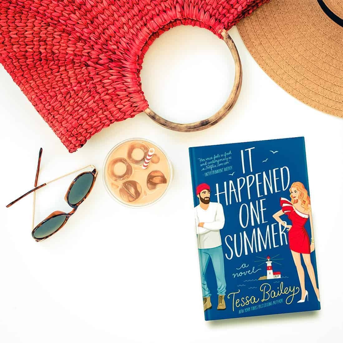 It Happened One Summer by Tessa Bailey is a fun, sweet, steamy, and swoony opposites attract romance featuring a grumpy fisherman and a pampered socialite.