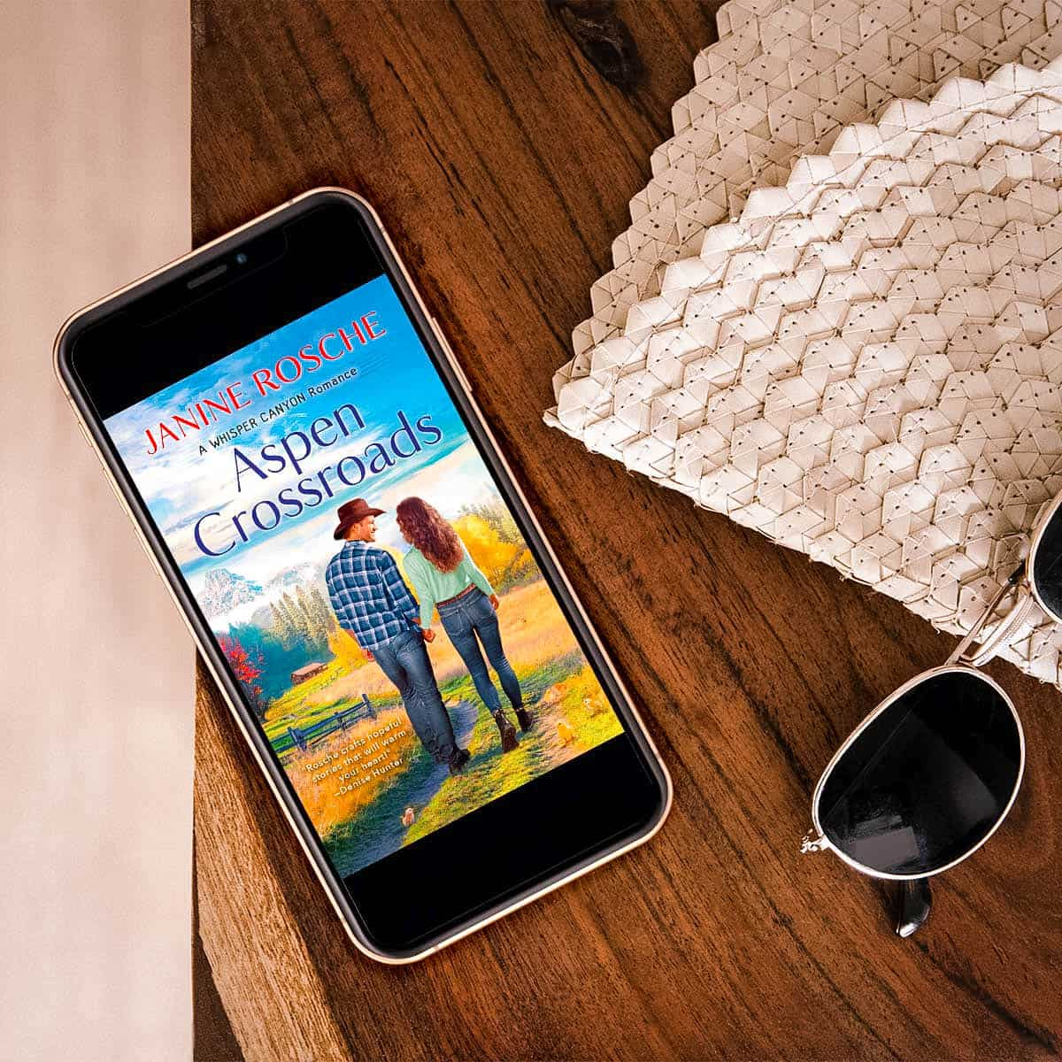 Enjoy this excerpt from Aspen Crossroads by Janine Rosche, an inspirational contemporary romance about overcoming strife and opening your heart to love
