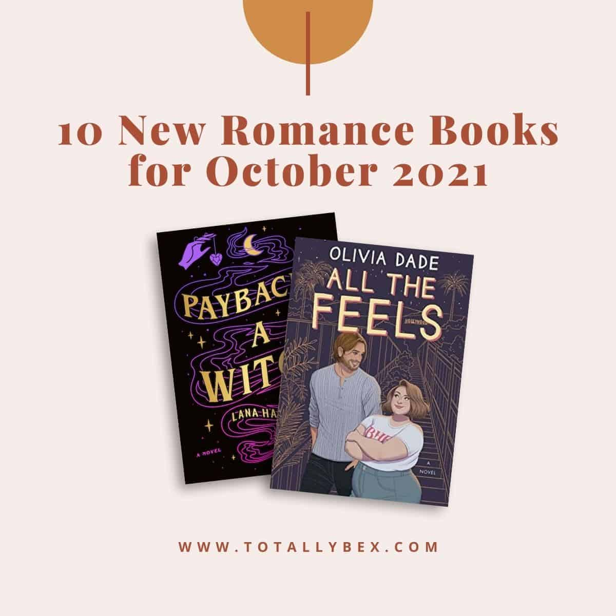 10 New Romance Books for October 2021 is a curated list of contemporary romance books, paranormal romance, and sports romance to add to your TBR!