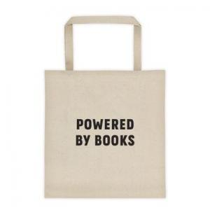 Powered By Books tote